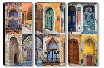 Модульная картина Арочные двери
