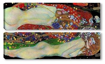 Модульная картина Водяные змеи II, 1907