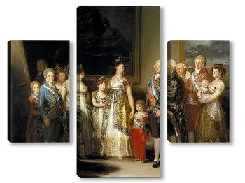 Модульная картина Семейный портрет короля Карла IV (280 х 336)