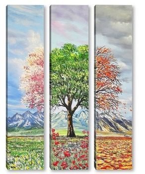 Модульная картина Три настроения в природе