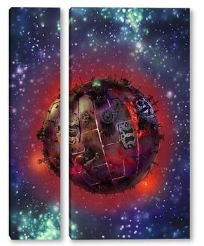 Модульная картина Планета Шелезяка