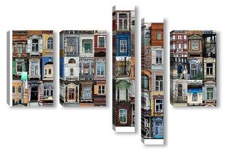 Модульная картина томские окна