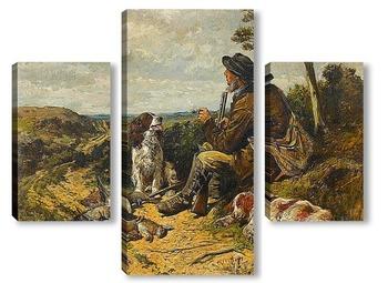 Модульная картина Отдых на охоте