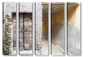 Модульная картина Старая дверь