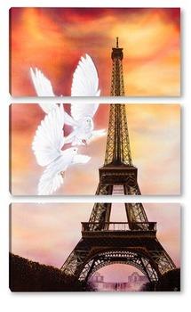 Модульная картина Париж никогда не кончается