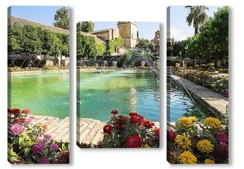 Модульная картина В садах Алькасара