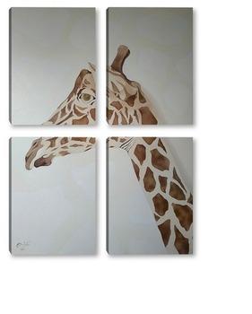 Модульная картина Жираф