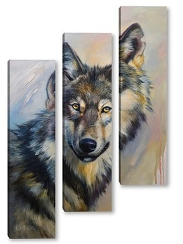 Модульная картина Волк, серый волк