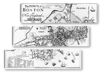 Модульная картина Карты городов_1