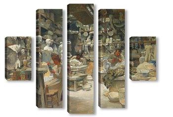 Модульная картина Мастерская Скульпторов Sadaune, Париж 1901