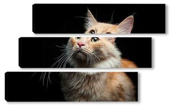 Модульная картина Портрет дворового кота