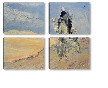 Модульная картина Песчаная буря в пустыне Ливии