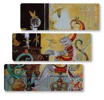 Модульная картина Джокер. Симфония полета