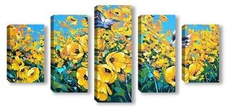 Модульная картина Две бабочки