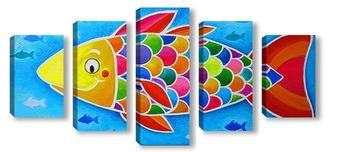 Модульная картина Счастливая рыбка