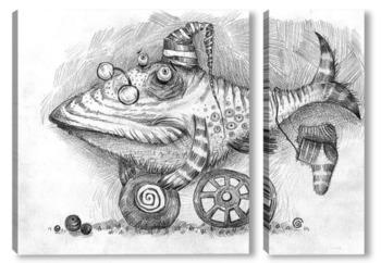 Модульная картина Мудрый рыб