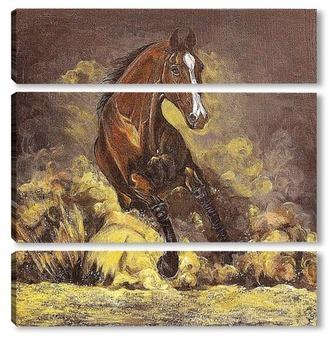 Модульная картина Конь