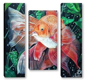 Модульная картина Золотая рыбка.
