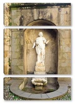 Модульная картина Фонтан в Бергамо
