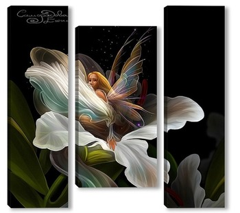Модульная картина Фея и цветок