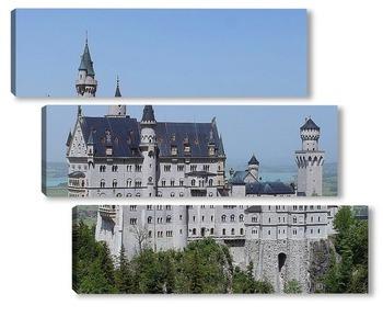 Модульная картина Бавария. Замок Нойшванштайн