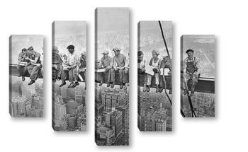 Модульная картина Обед над Мантхэттеном