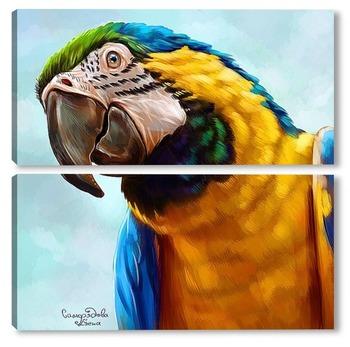 Модульная картина Попугай ара