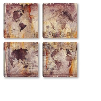 Модульная картина Карта мира