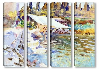 Модульная картина Озеро Гарда