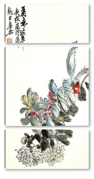 Модульная картина Цветы Хризантемы
