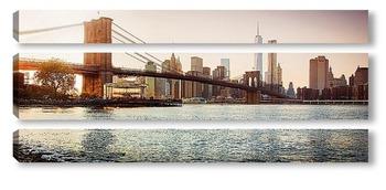 Модульная картина золотой Манхеттен gold Manhattan
