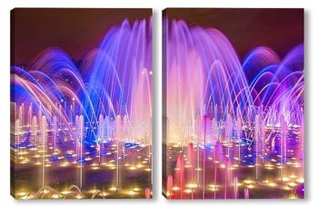 Модульная картина Цветомузыкальный фонтан в Царицыно