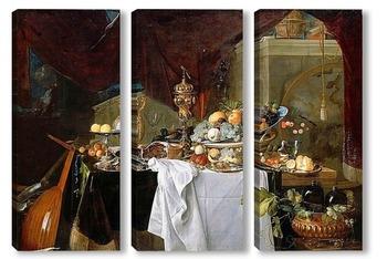 Модульная картина Натюрморт с десертом