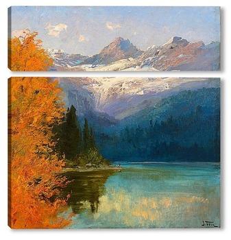 Модульная картина Лавинное озеро