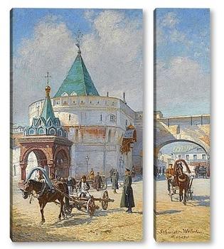 Модульная картина Вид Москвы