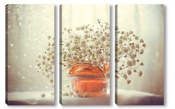 """Модульная картина """"цветы в вазе"""""""