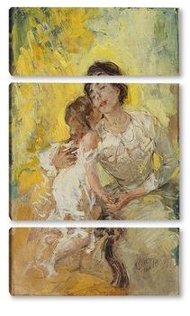 Модульная картина Материнство