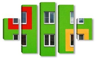 Модульная картина Яркий фасад