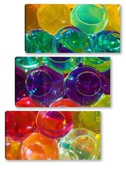 Модульная картина Гидрогелевые шарики