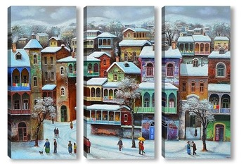 Модульная картина Зимный  тбилиси