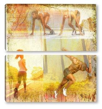 Модульная картина Спортивный бег