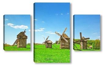 Модульная картина Украинские мельницы