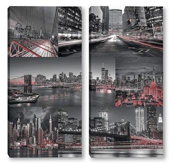 Модульная картина Виды Нью Йорка