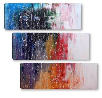 Модульная картина Дождь за окном