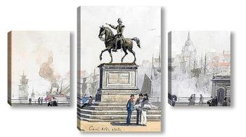 Модульная картина Статуя Карла XIV