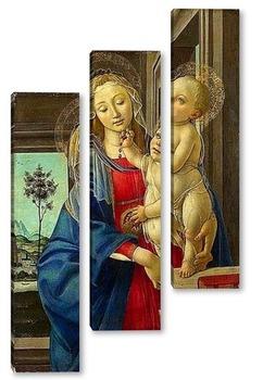 Модульная картина Мадонна с младенцем