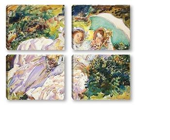 Модульная картина Перевал Симплон