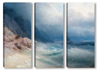 Модульная картина Шторм на море