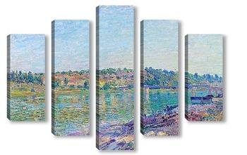 Модульная картина Холм Целле-су-Море в Санкт-Маммес