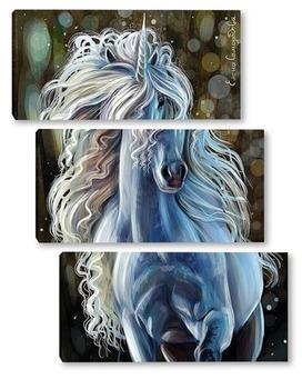 Модульная картина Единорог